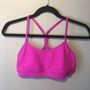 Lululemon pink coloured size 8 bralet.